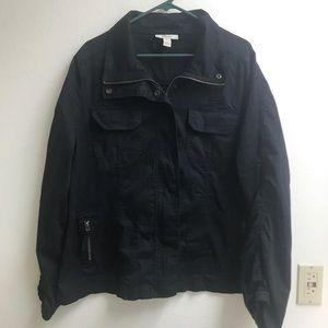 Style & Co. Black Utility Jacket